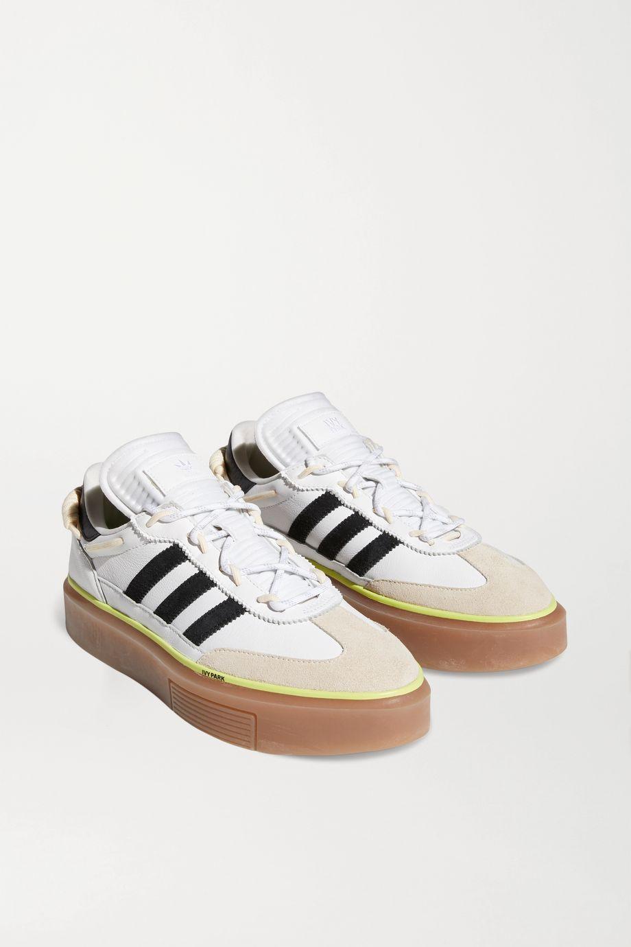 adidas Originals + Ivy Park Supersleek leather, neoprene and suede sneakers