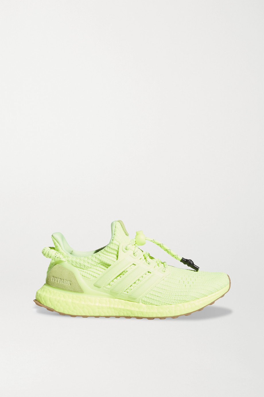 adidas Originals + Ivy Park UltraBOOST neon rubber and suede-trimmed Primeknit sneakers
