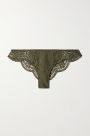 Eberjey Beatrix stretch-lace and mesh briefs
