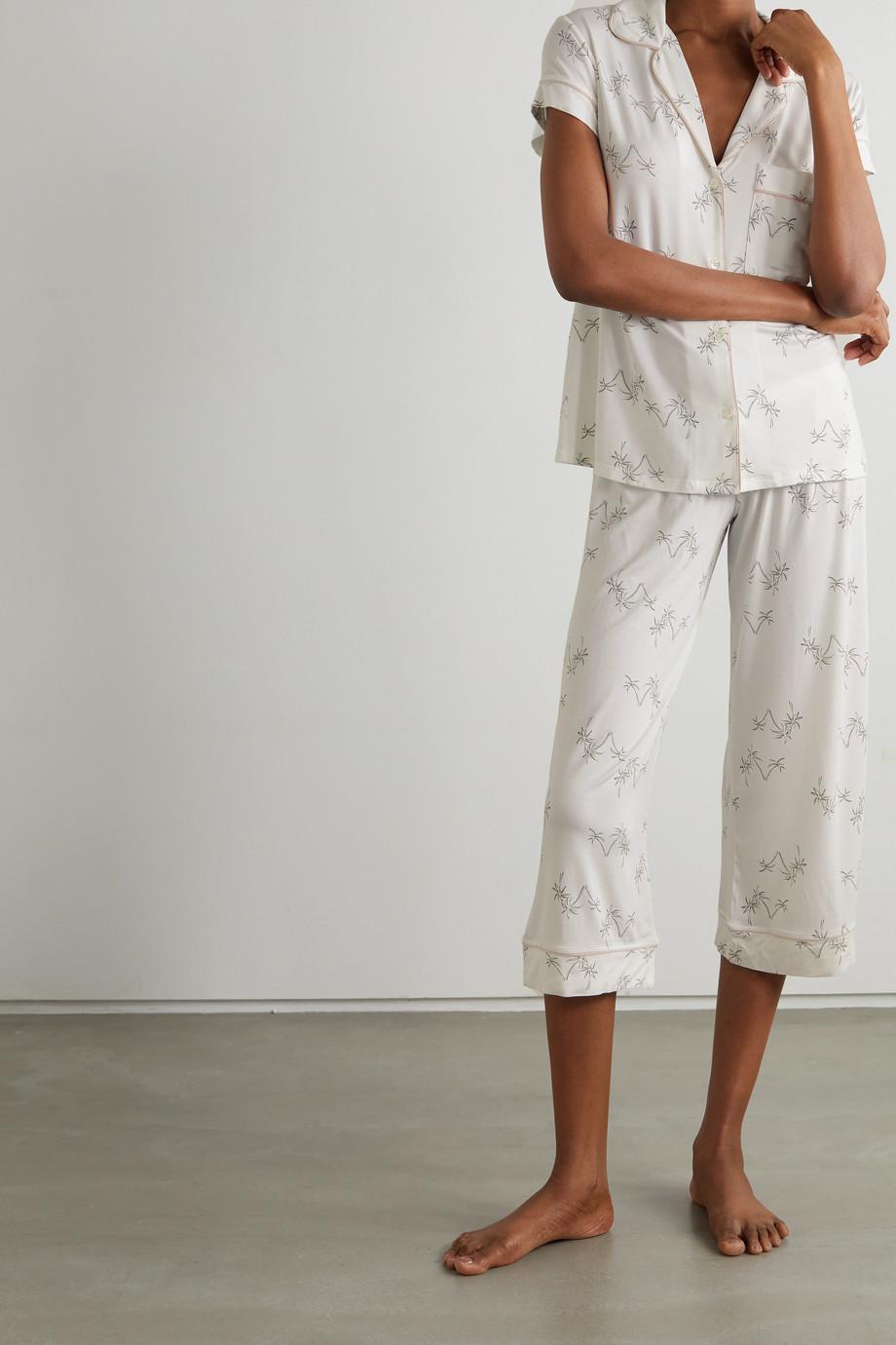 Eberjey Gisele printed stretch-modal pajama set