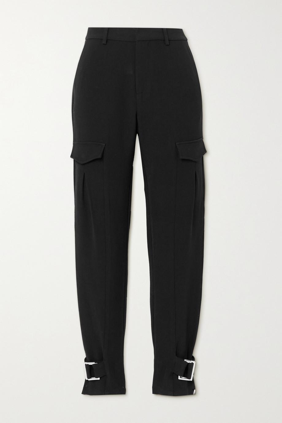 Holzweiler Skunk Suit buckled woven cargo pants