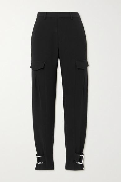 Holzweiler - Skunk Suit Buckled Woven Cargo Pants - Black