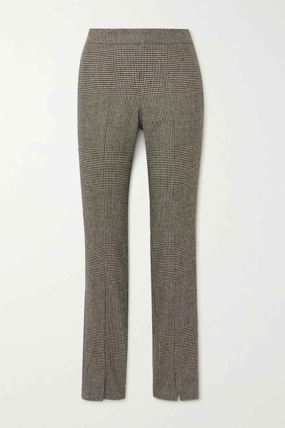 Holzweiler Pantalon slim tissé à carreaux Sira
