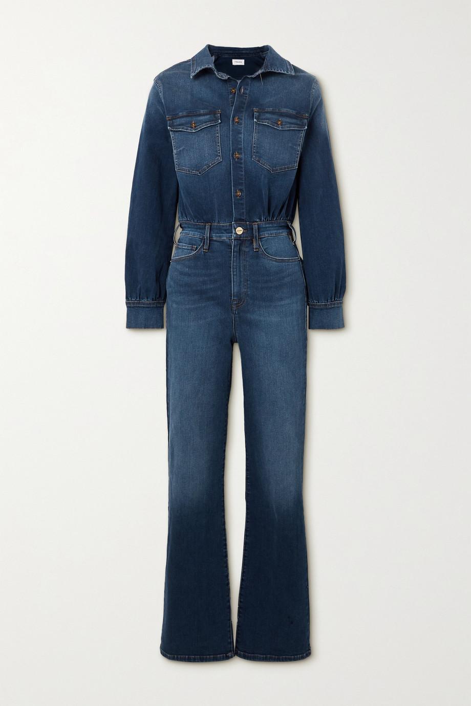 FRAME Le Jane stretch-denim jumpsuit