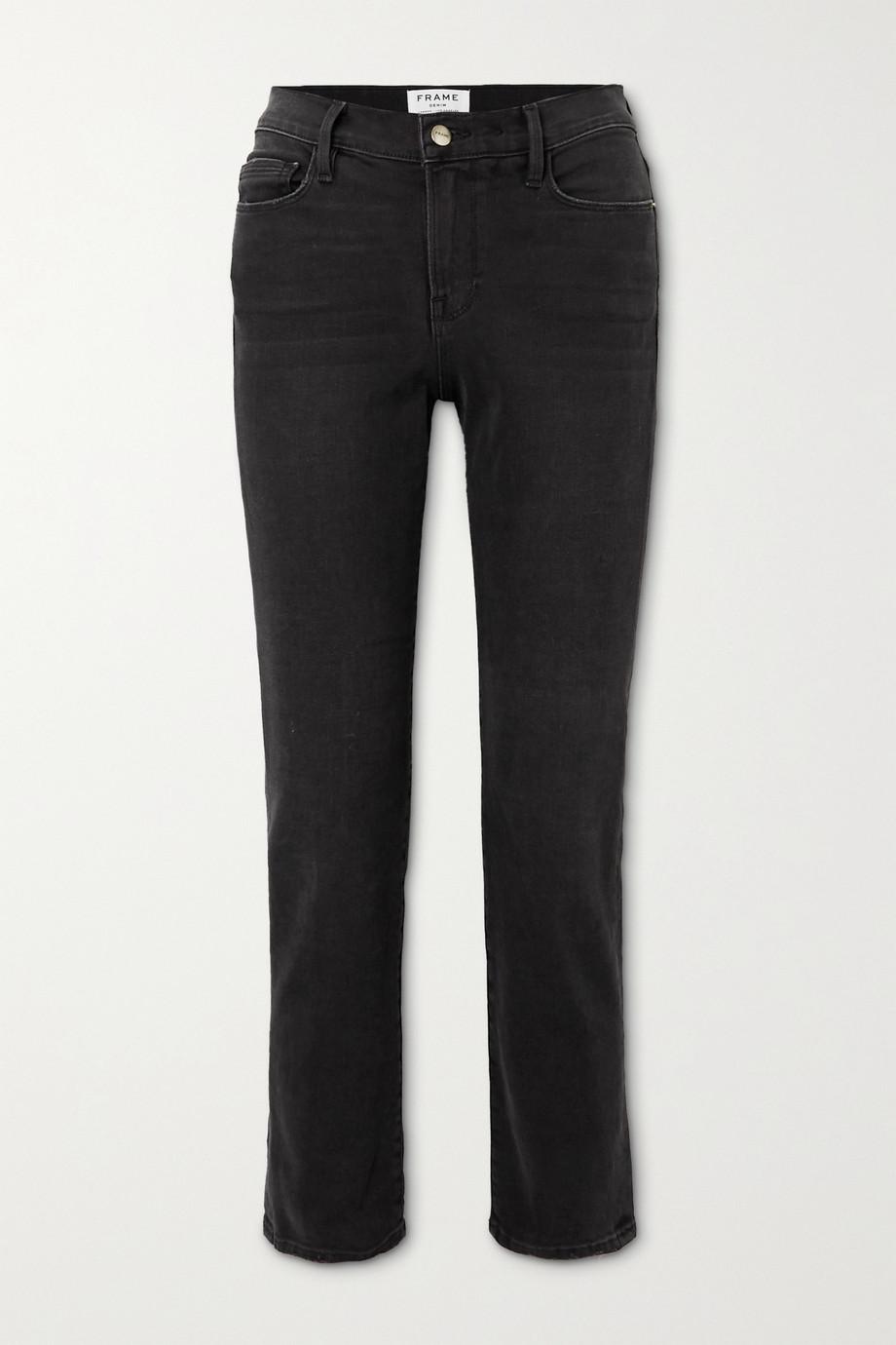FRAME Le Nouveau cropped high-rise straight-leg jeans