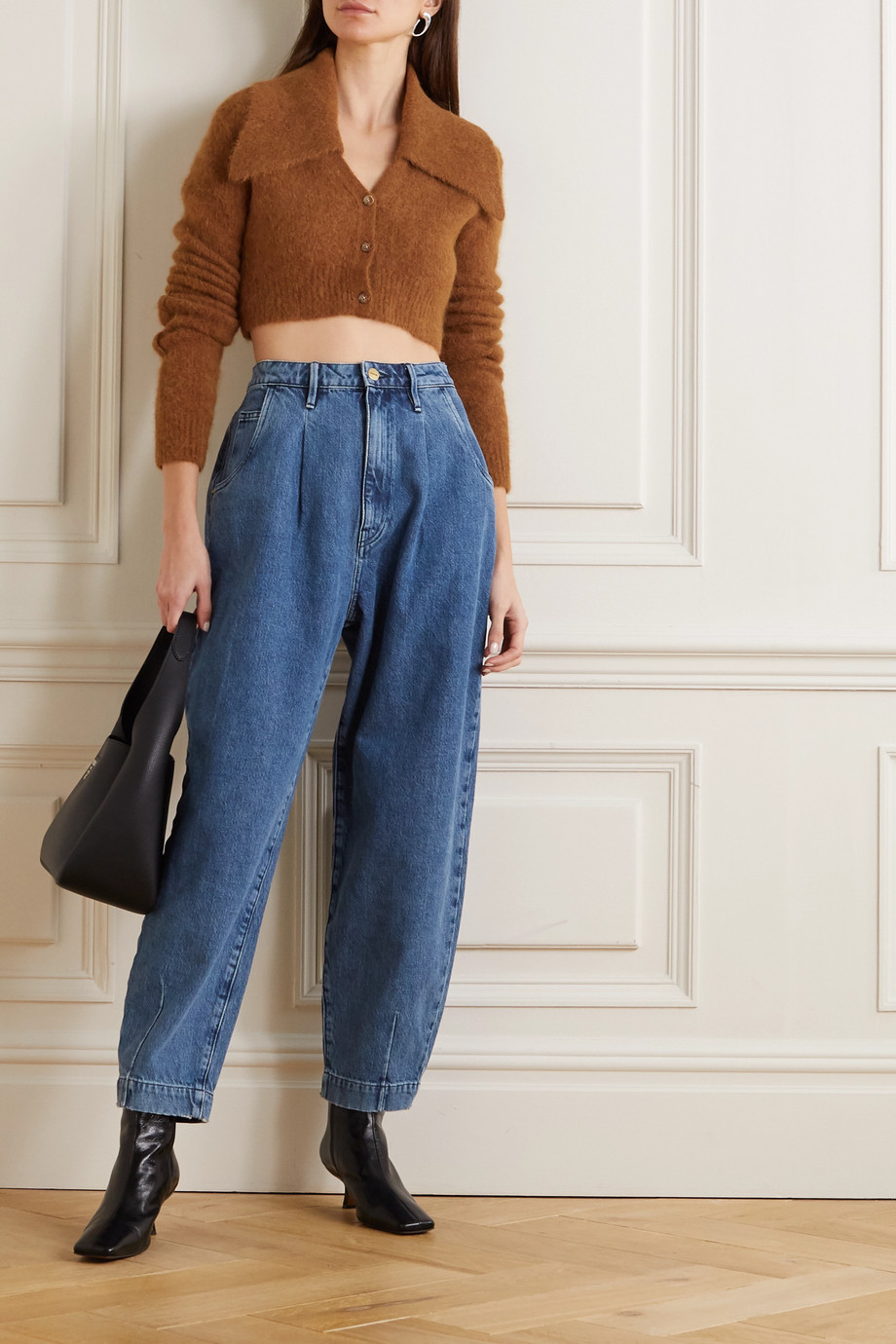 FRAME Barrel high-rise tapered jeans