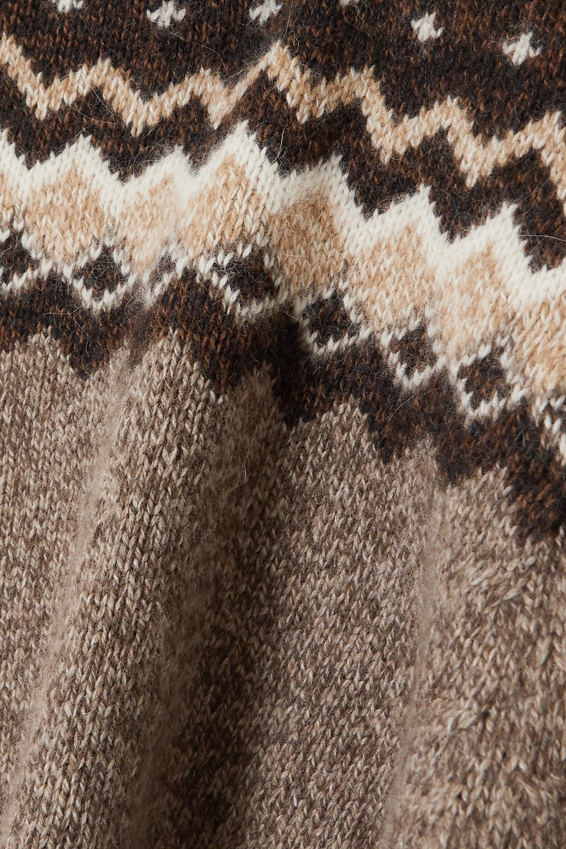 FRAME Strickpullover mit Fair-Isle-Muster und Rüschen