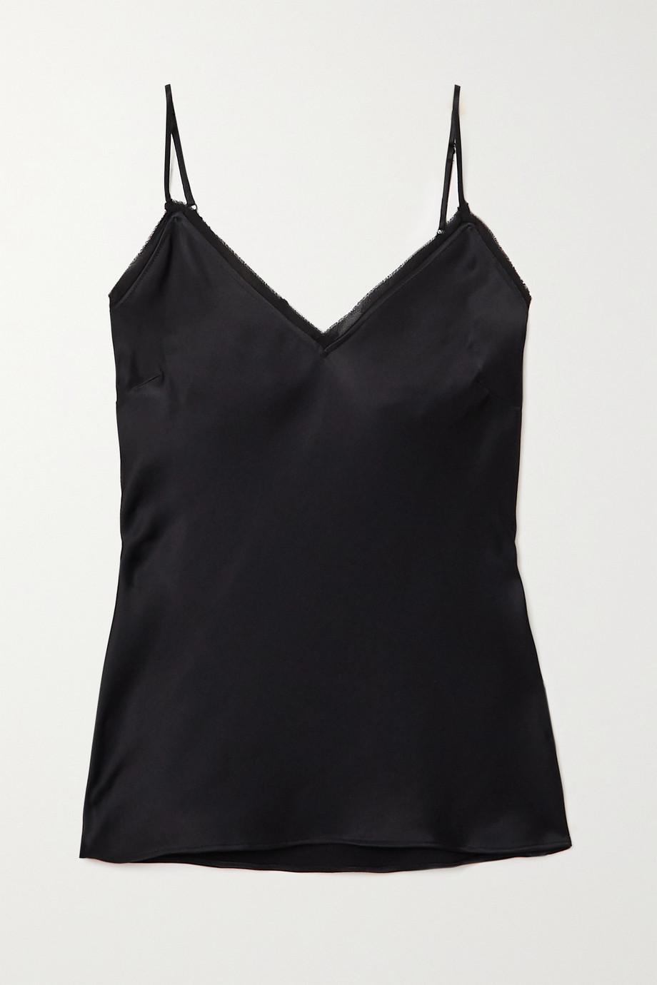 FRAME Frayed silk-satin camisole