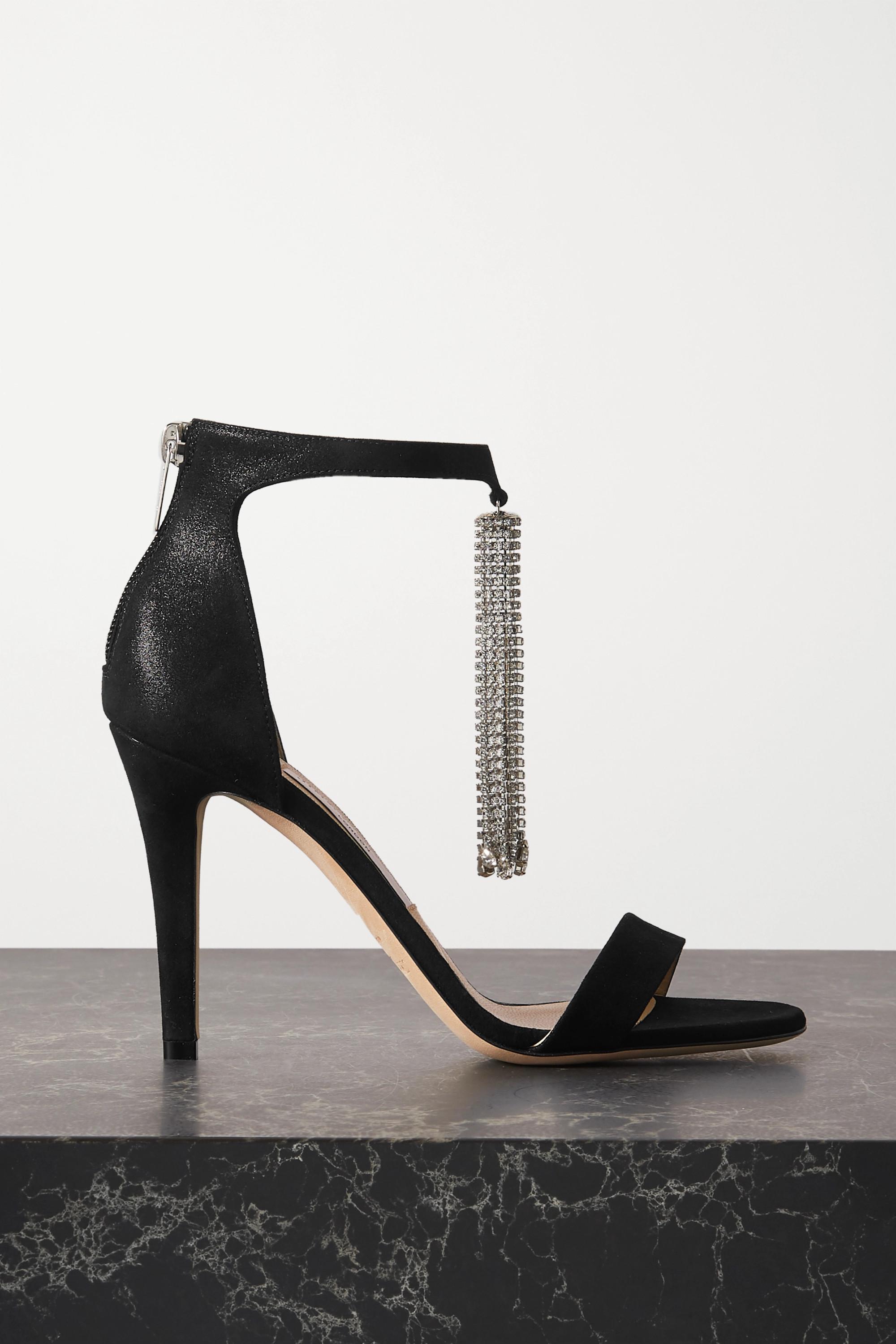 Jimmy Choo Viola 100 crystal-embellished suede sandals