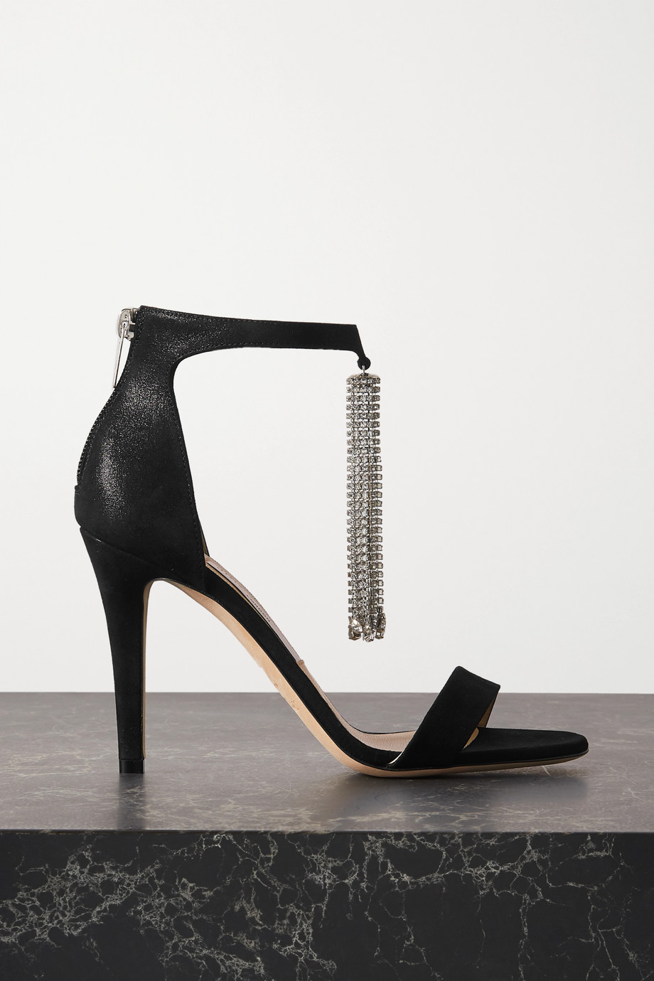 Jimmy Choo Viola 100 crystal-embellished suede sandals