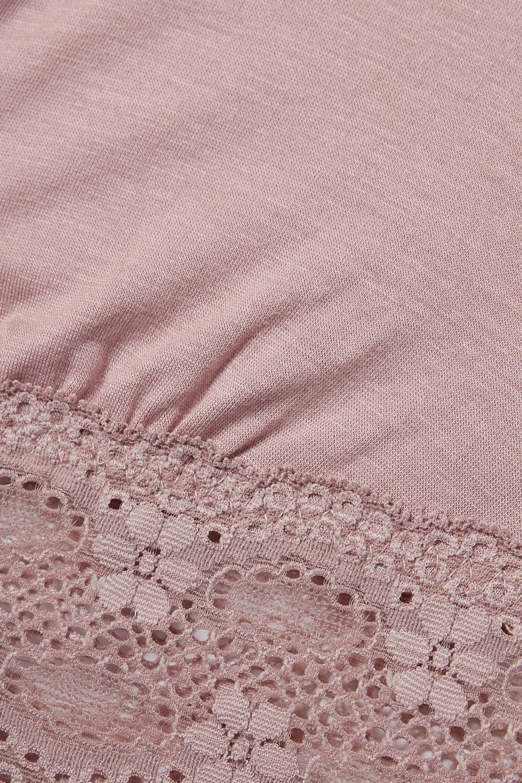 Eberjey India stretch lace-trimmed stretch-modal jersey bralette