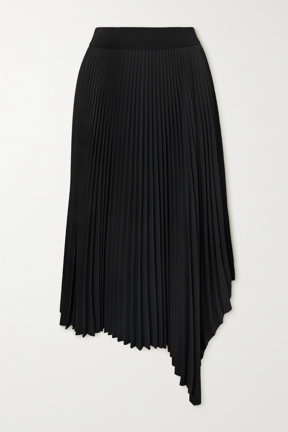 Joseph Swinton asymmetric pleated crepe midi skirt