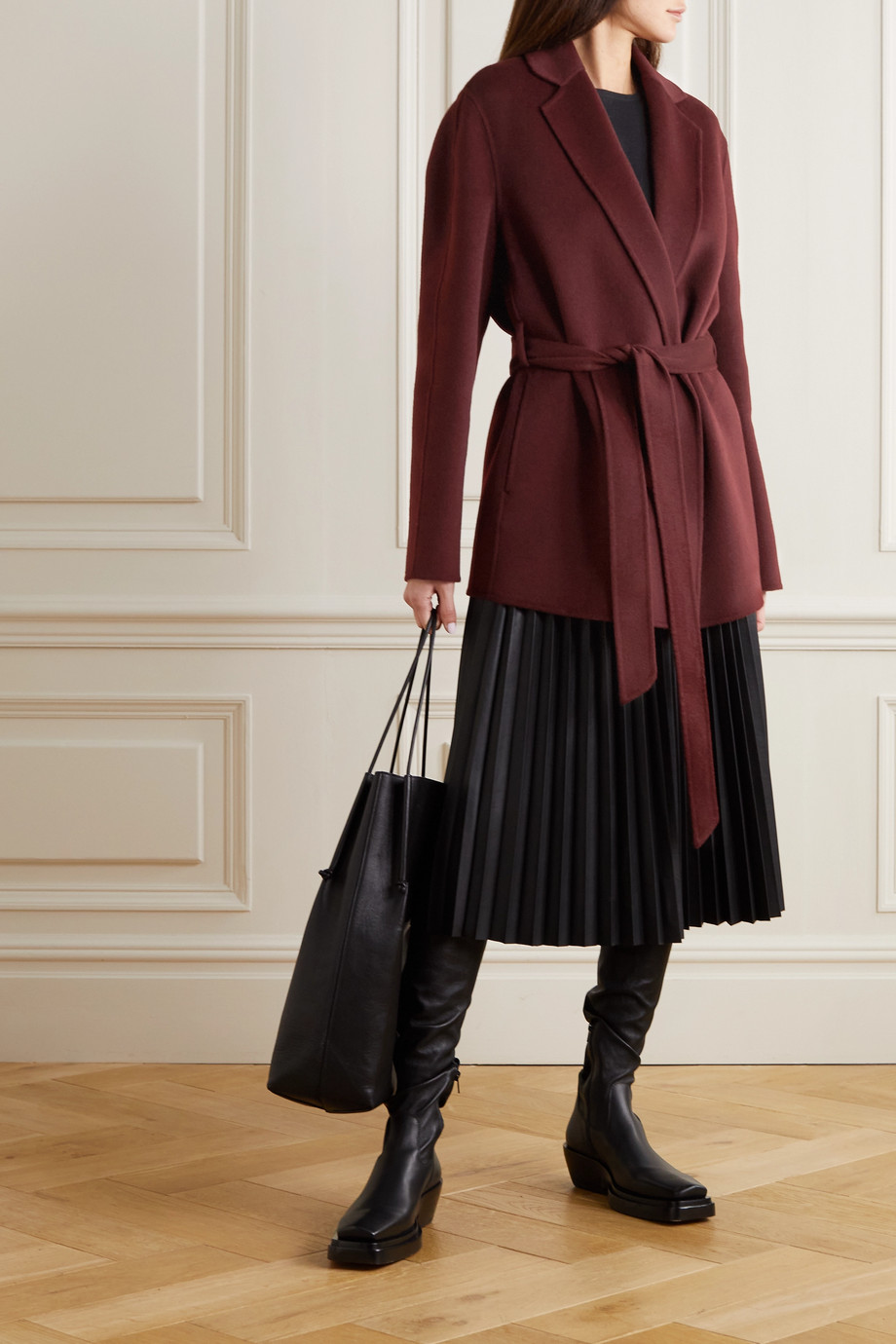 Joseph Cenda belted wool and cashmere-blend coat