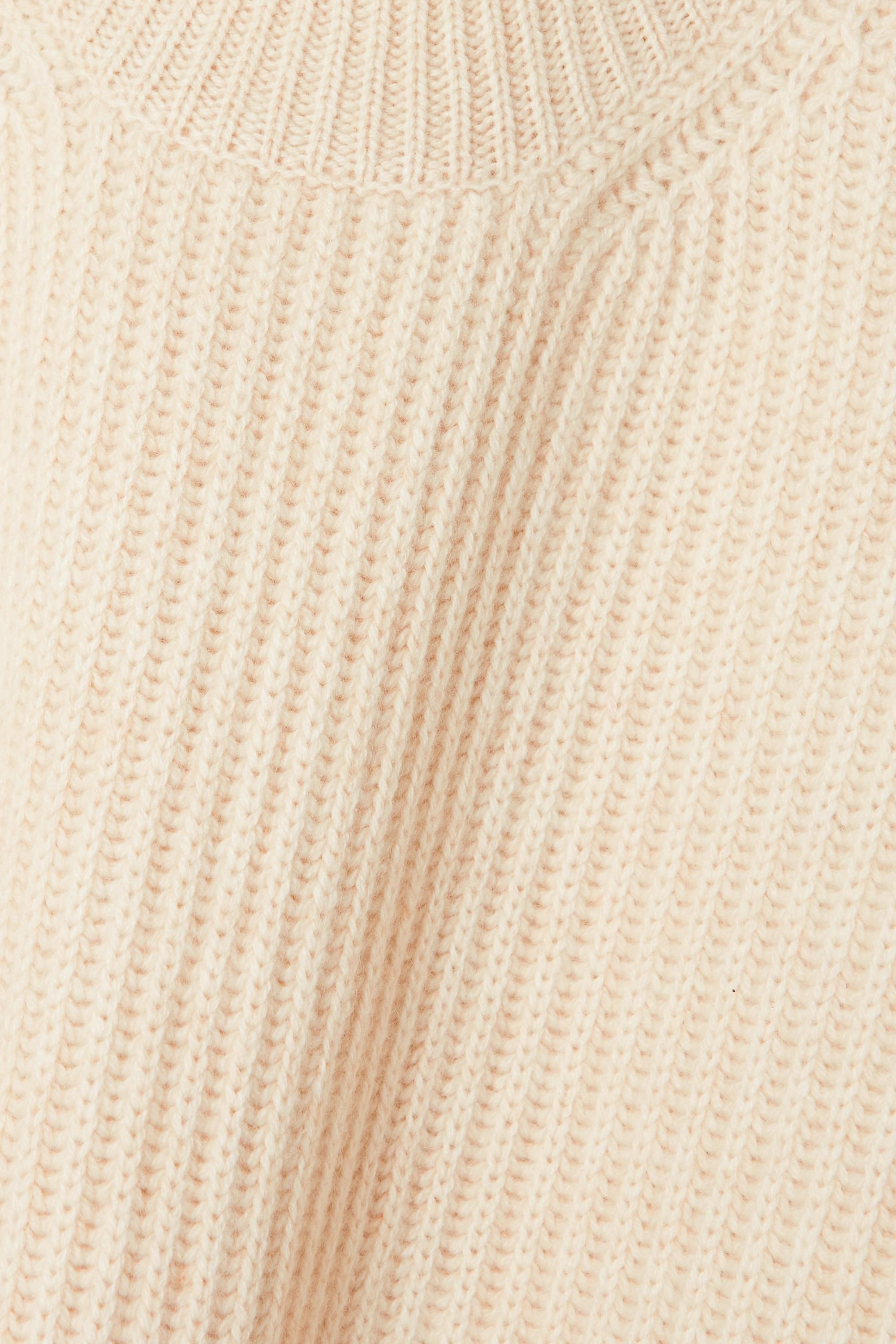 Joseph Ribbed cashmere turtleneck poncho
