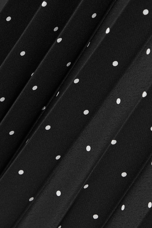 Joseph Pleated polka-dot silk crepe de chine midi skirt