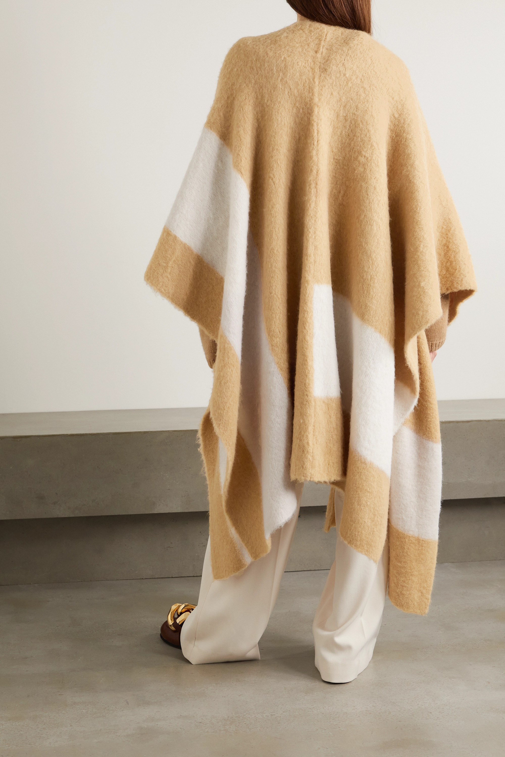 Joseph Two-tone brushed alpaca-blend kaftan