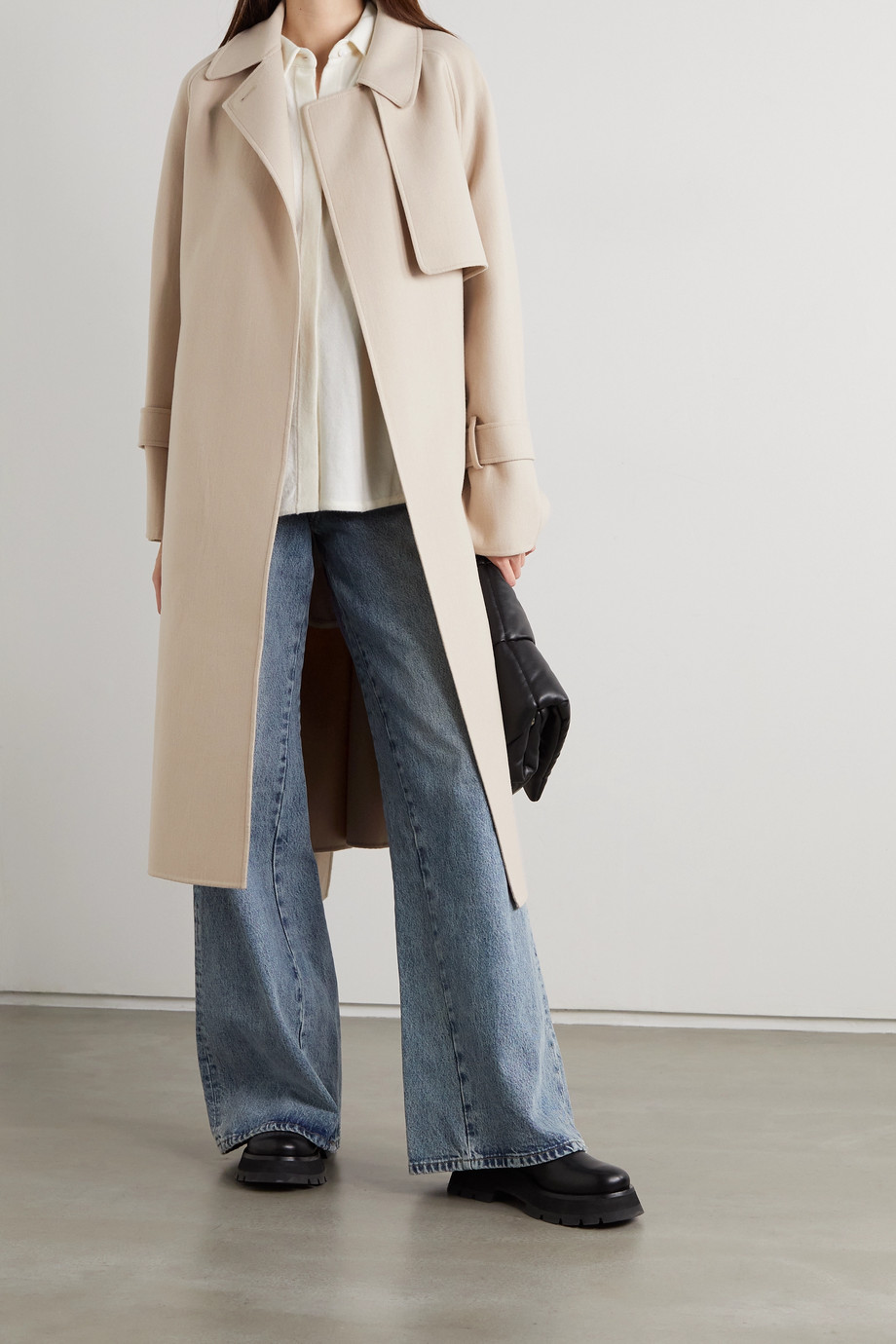 Joseph Cottrell belted wool and cashmere-blend felt coat