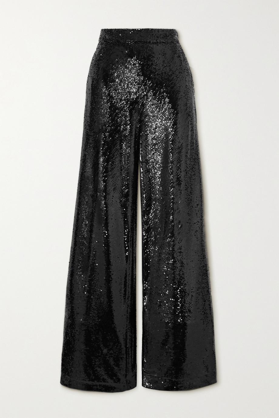 Joseph Tawny sequined crepe wide-leg pants