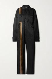 adidas Originals + Ivy Park 4All striped cotton-blend twill jumpsuit