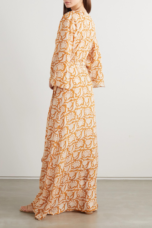 Hannah Artwear + NET SUSTAIN Luna printed silk wrap maxi dress