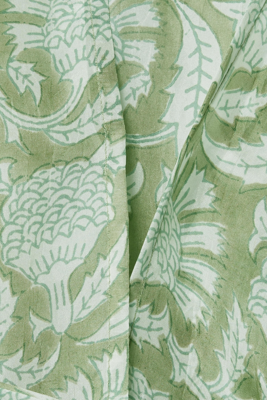 Hannah Artwear + NET SUSTAIN Maya printed silk wrap blouse