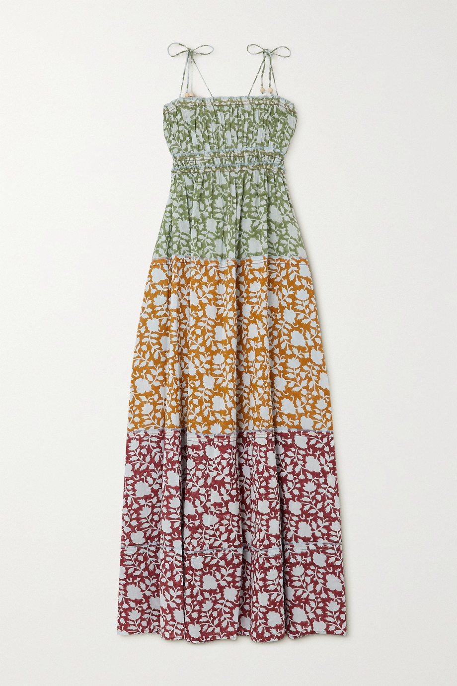 Hannah Artwear + NET SUSTAIN Sunhara tiered  printed cotton maxi dress