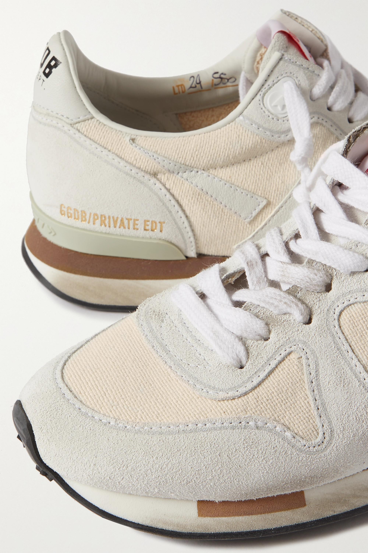 Golden Goose Sneakers aus Veloursleder und Canvas