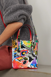 Christian Louboutin Cabata mini spiked printed leather tote