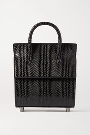 Christian Louboutin Paloma mini snake-effect leather tote