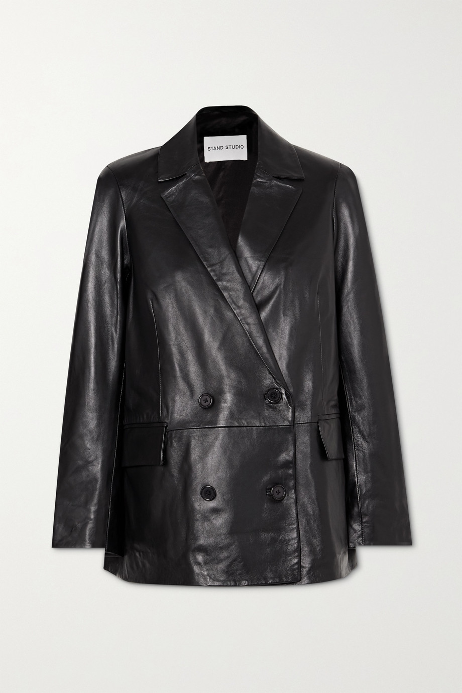 Stand Studio Cassidy double-breasted leather blazer