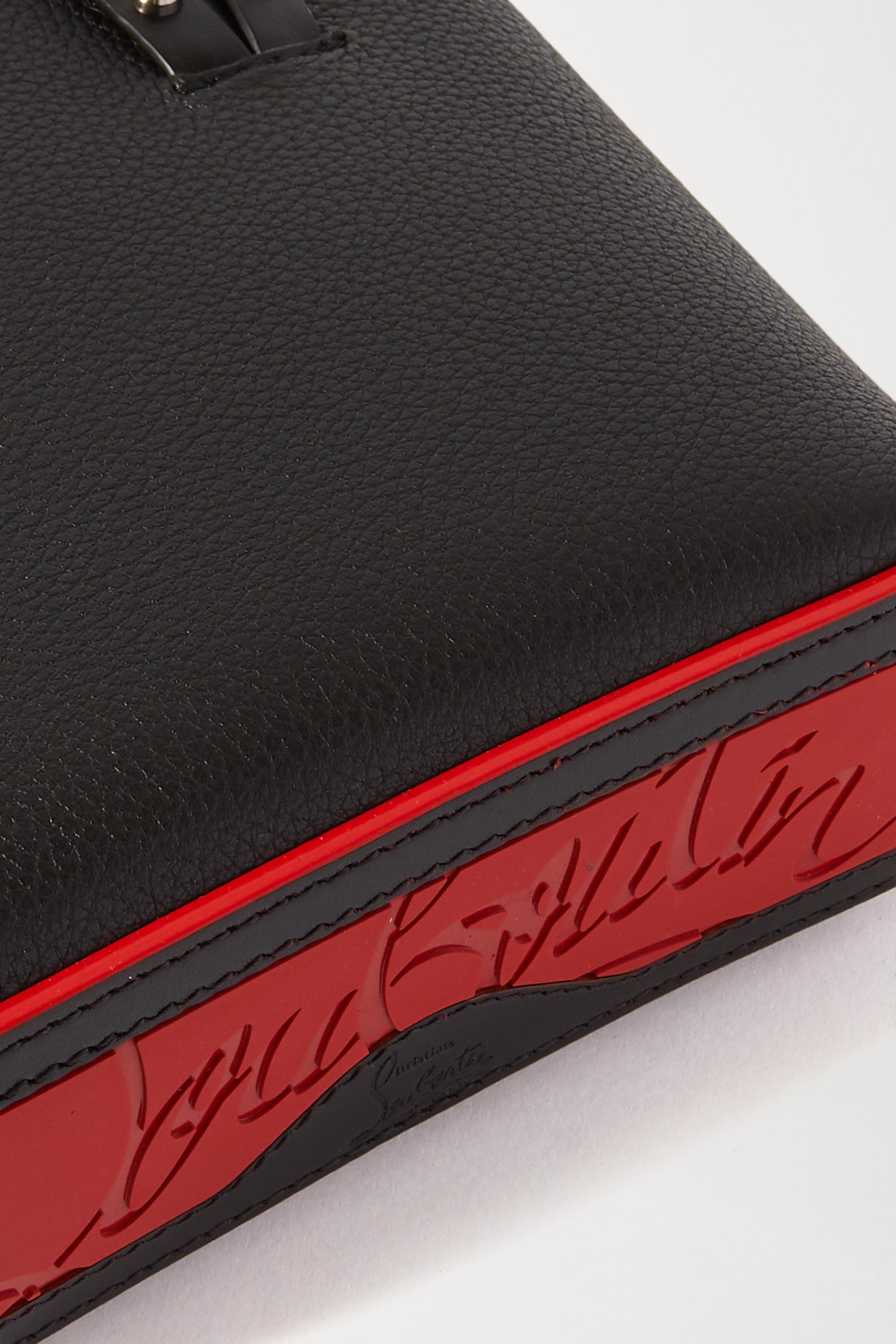 Christian Louboutin Cabata mini spiked textured-leather tote