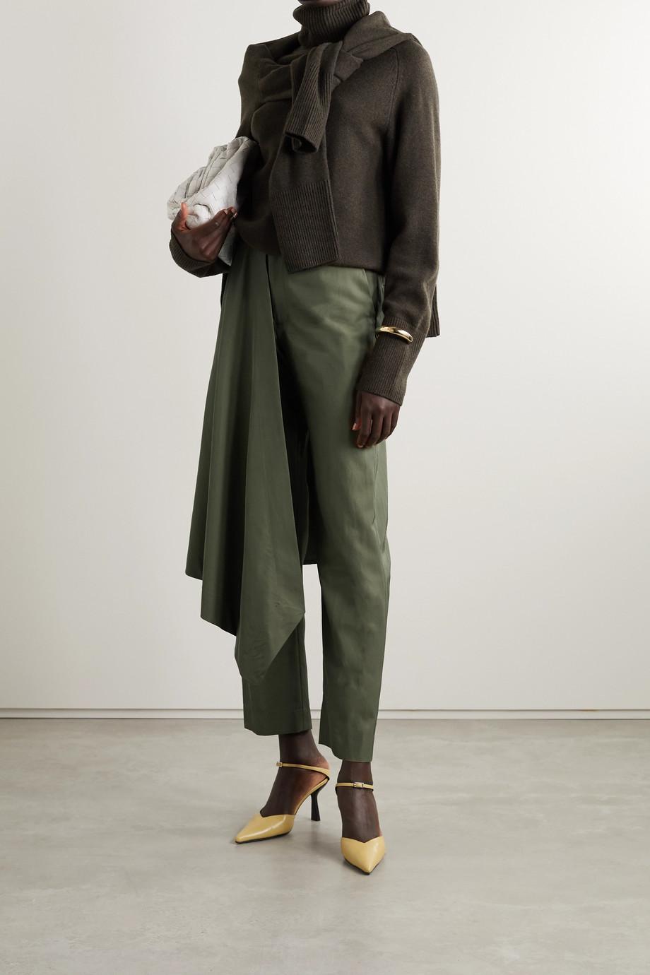 Deveaux Pantalon droit en serge à drapé
