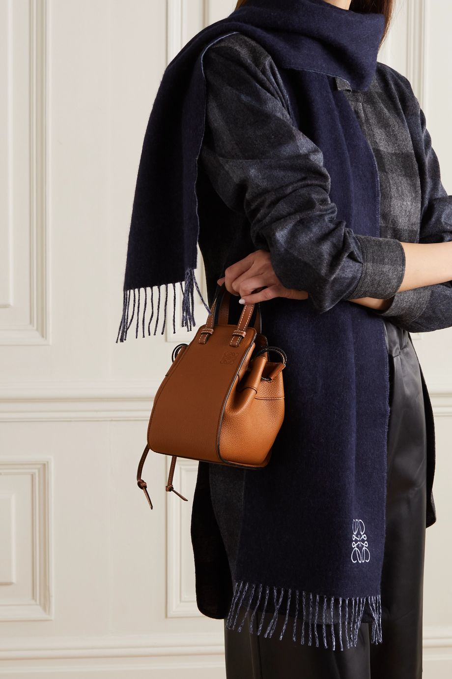 Loewe Hammock mini leather shoulder bag