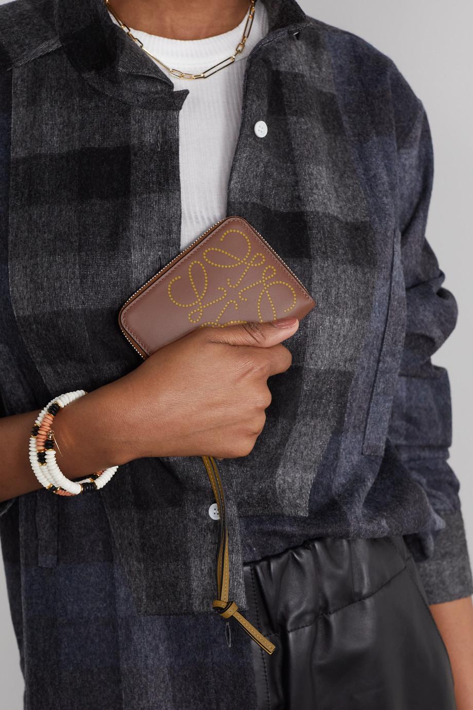 Loewe Portefeuille en cuir gaufré