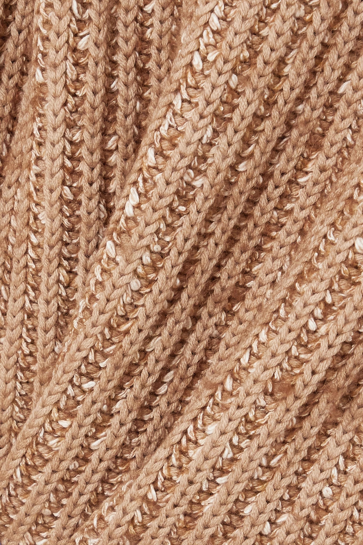 By Malene Birger Atuna gerippter Pullover aus einer melierten Wollmischung mit Stehkragen