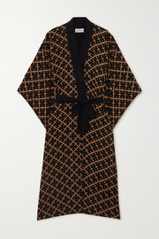 By Malene Birger Kimonah oversized belted printed twill jacket