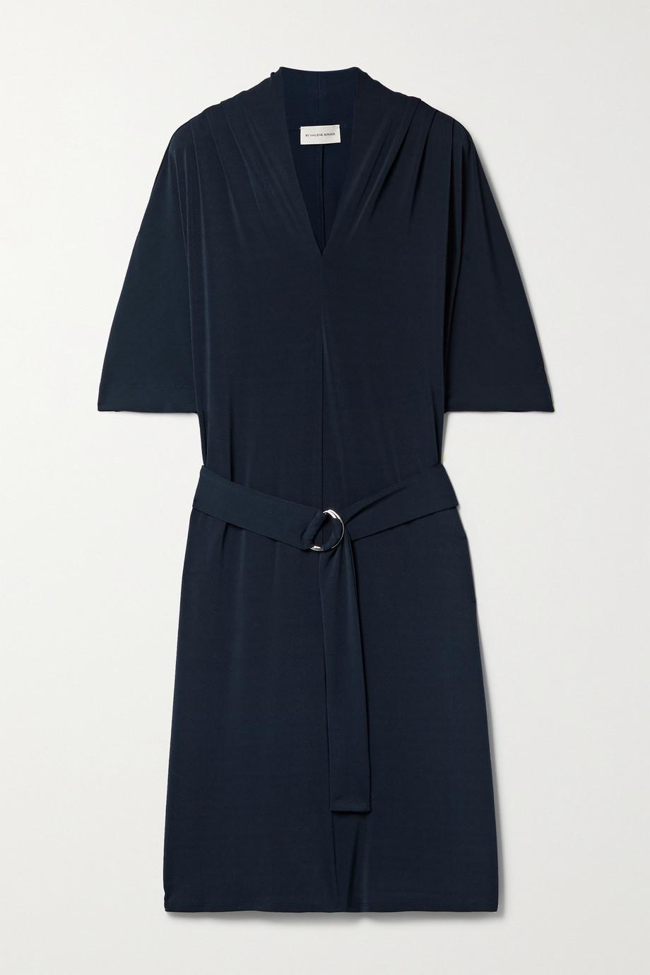 By Malene Birger Mini-robe en mailles point de Rome stretch à ceinture Sora