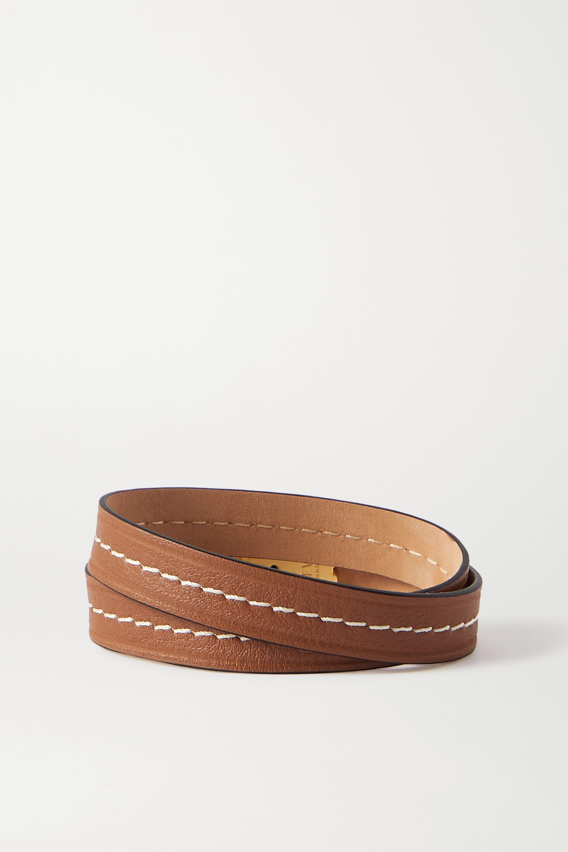 Loewe Anagram embellished leather bracelet