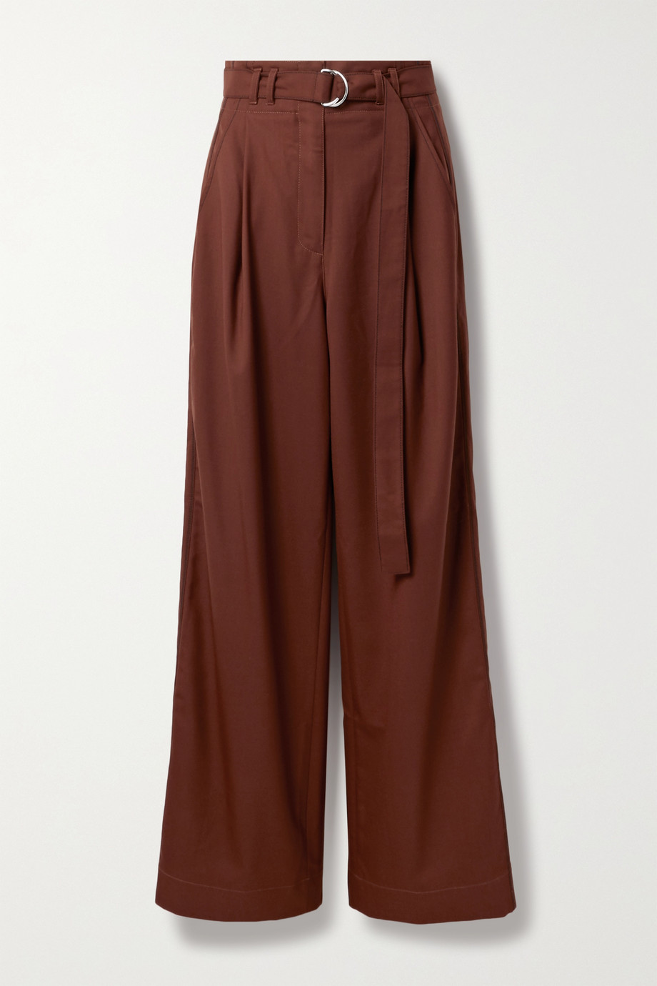 Proenza Schouler White Label Belted pleated twill wide-leg pants