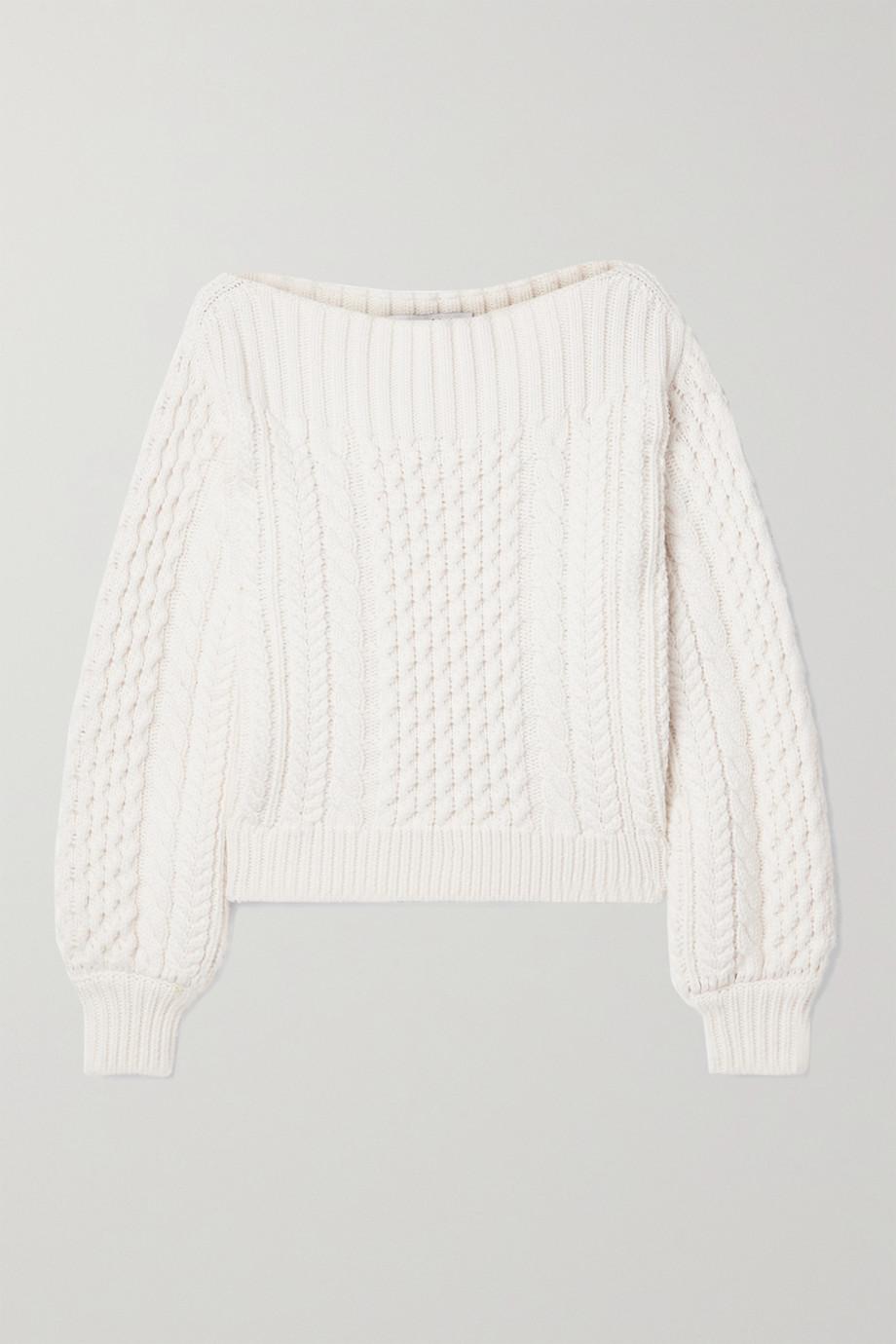 Proenza Schouler White Label Pullover aus einer Wollmischung mit Zopfstrickmuster