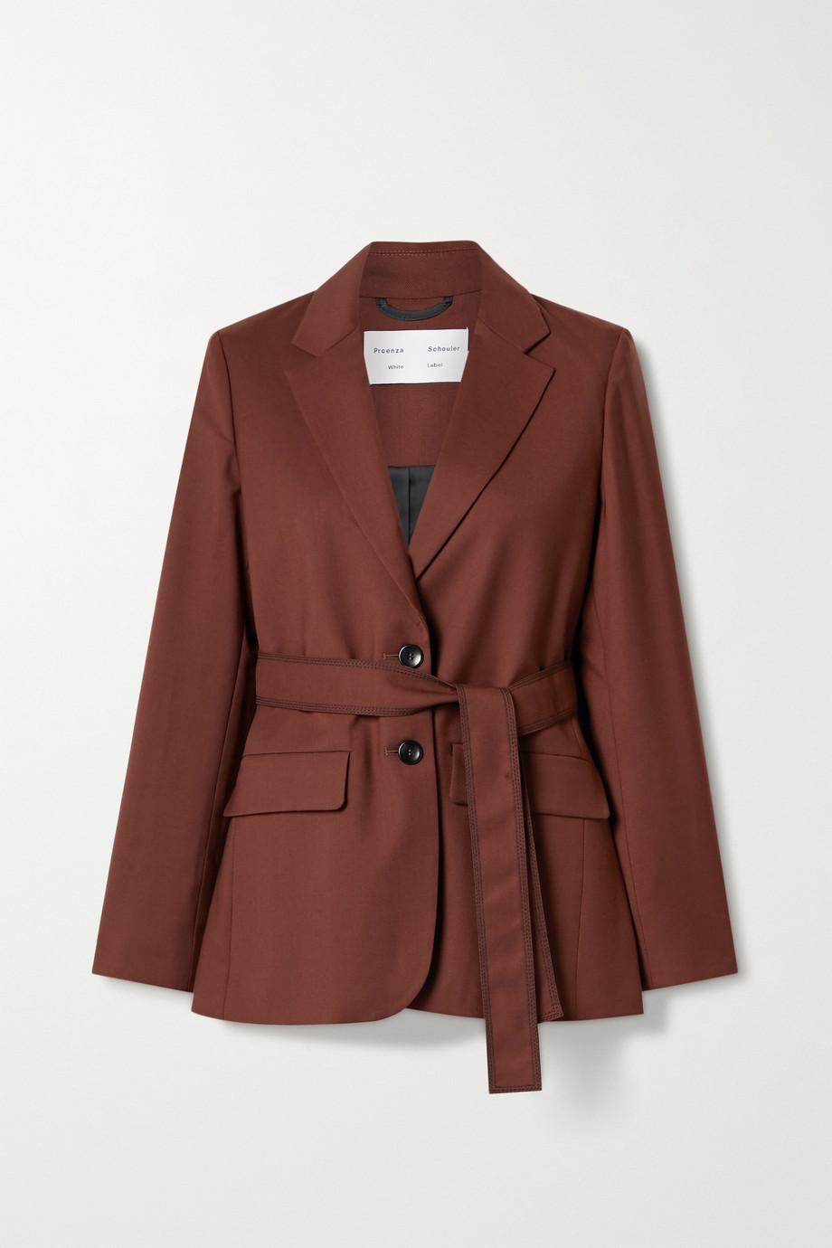 Proenza Schouler White Label Belted twill blazer