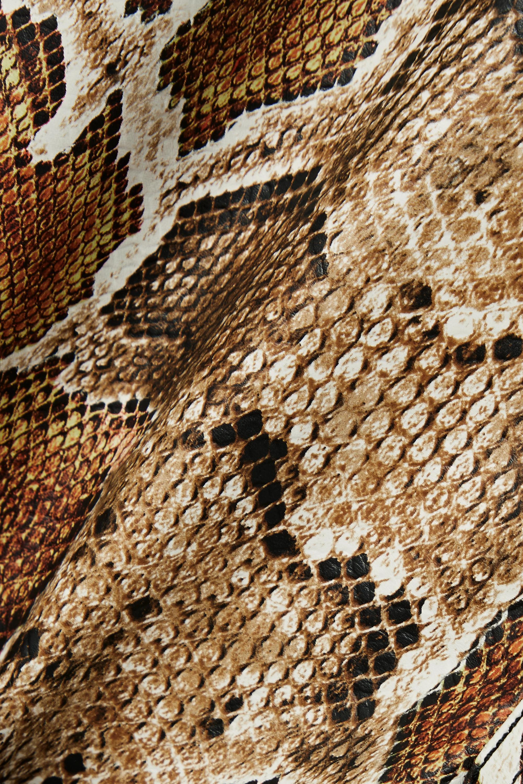 Proenza Schouler White Label Snake-effect faux leather straight-leg pants