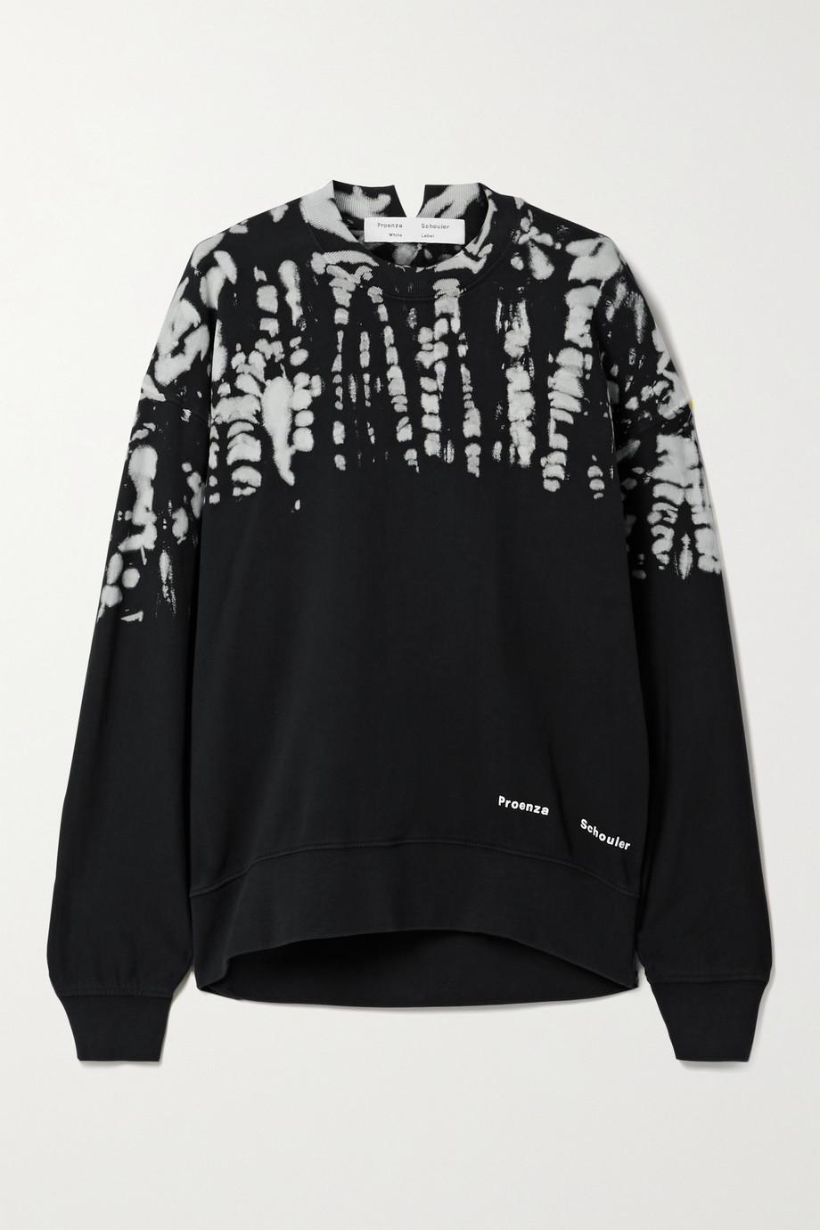Proenza Schouler White Label Tie-dyed cotton-jersey sweatshirt