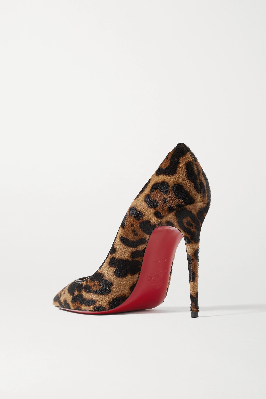Christian Louboutin Kate 100 leopard-print calf hair pumps