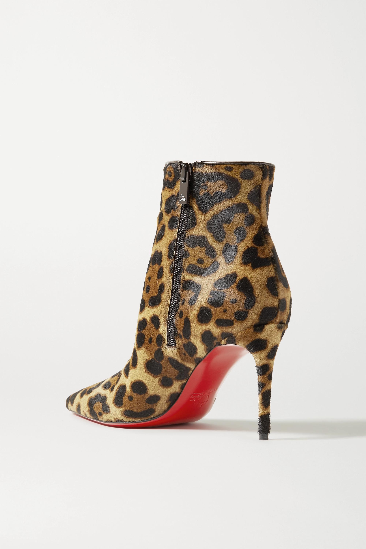 Christian Louboutin So Kate Booty 85 Ankle Boots aus Kalbshaar mit Leopardenprint