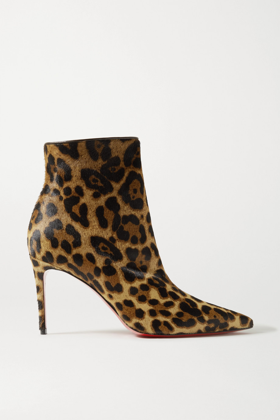 Christian Louboutin So Kate Booty 85 leopard-print calf hair ankle boots