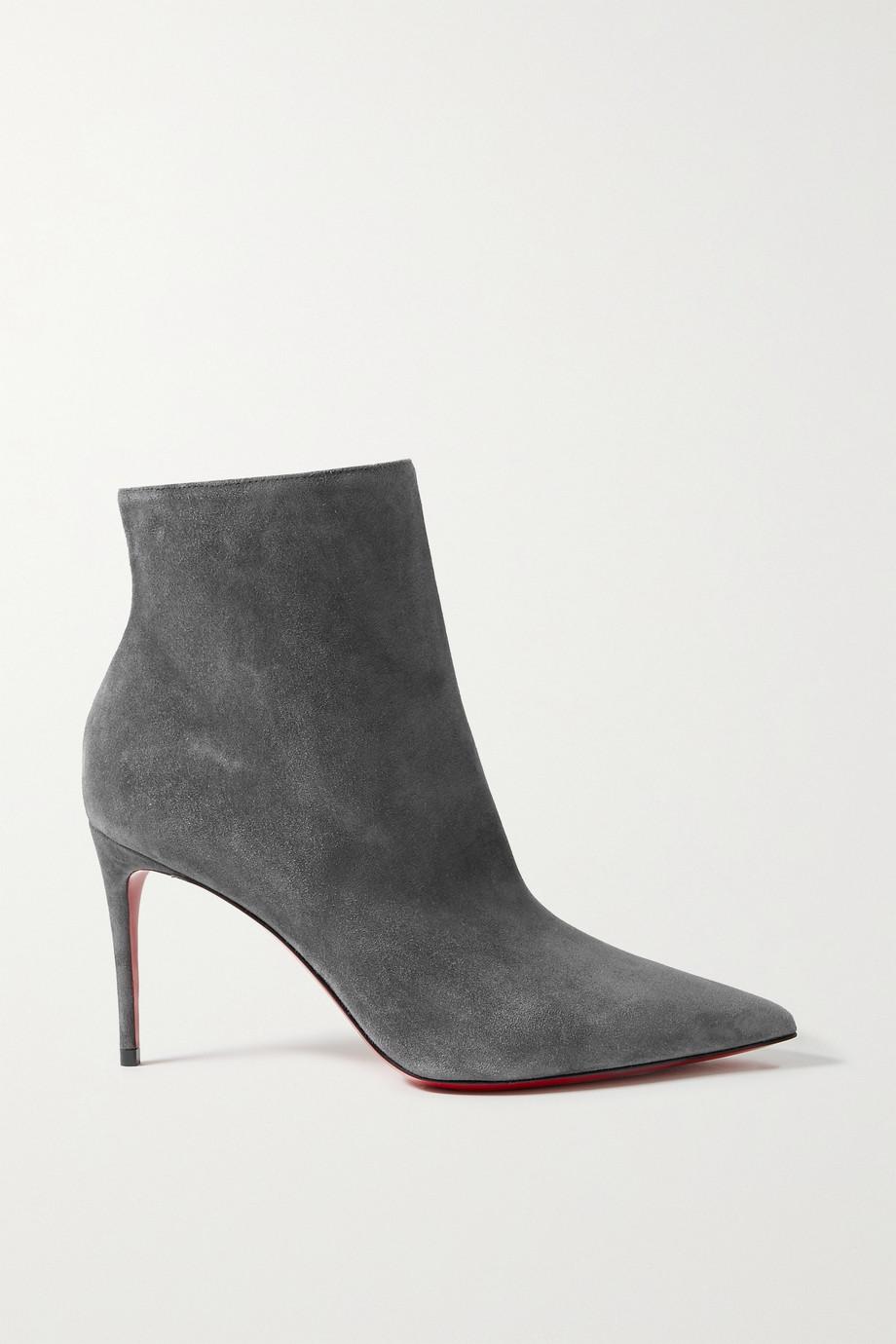Christian Louboutin So Kate Booty 85 Ankle Boots aus Veloursleder