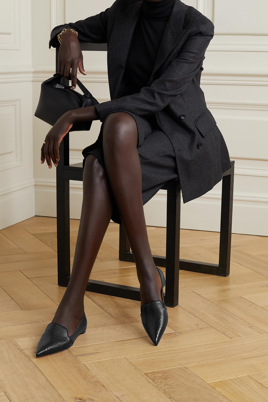 Christian Louboutin Kashasha Loafers aus Leder mit Eidechseneffekt