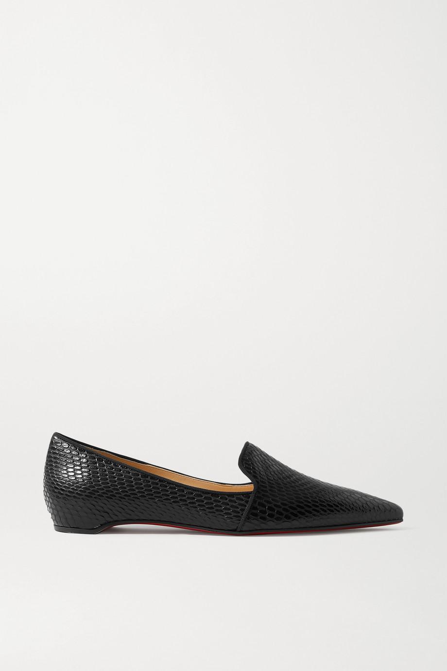 Christian Louboutin Kashasha lizard-effect leather loafers