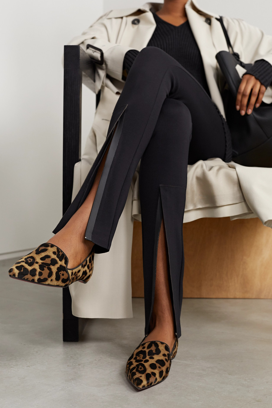 Christian Louboutin Kashasha leopard-print calf hair loafers